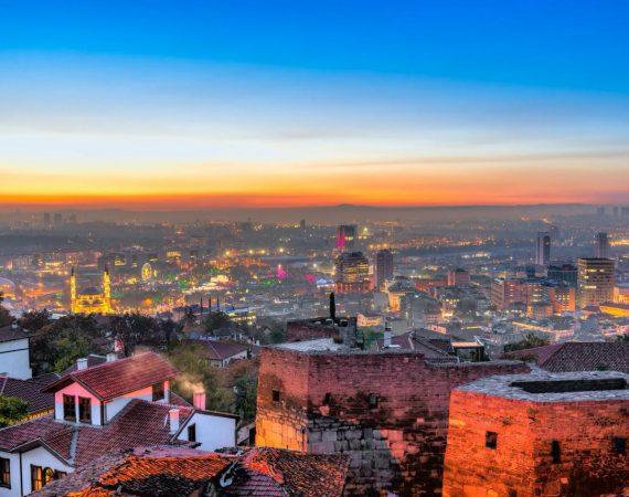 Вид на Анкару с крепости Хисар