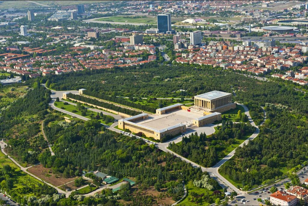 Аныткабир в Анкаре с высоты птичьего полета