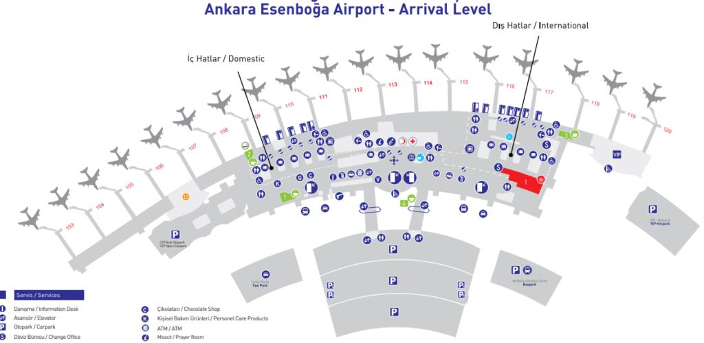 План-схема аэропорта Анкары