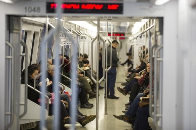 В вагоне метро в Анкаре