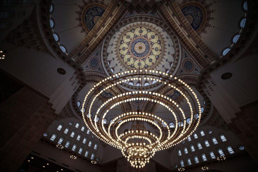 Люстра в мечети Северная Анкара