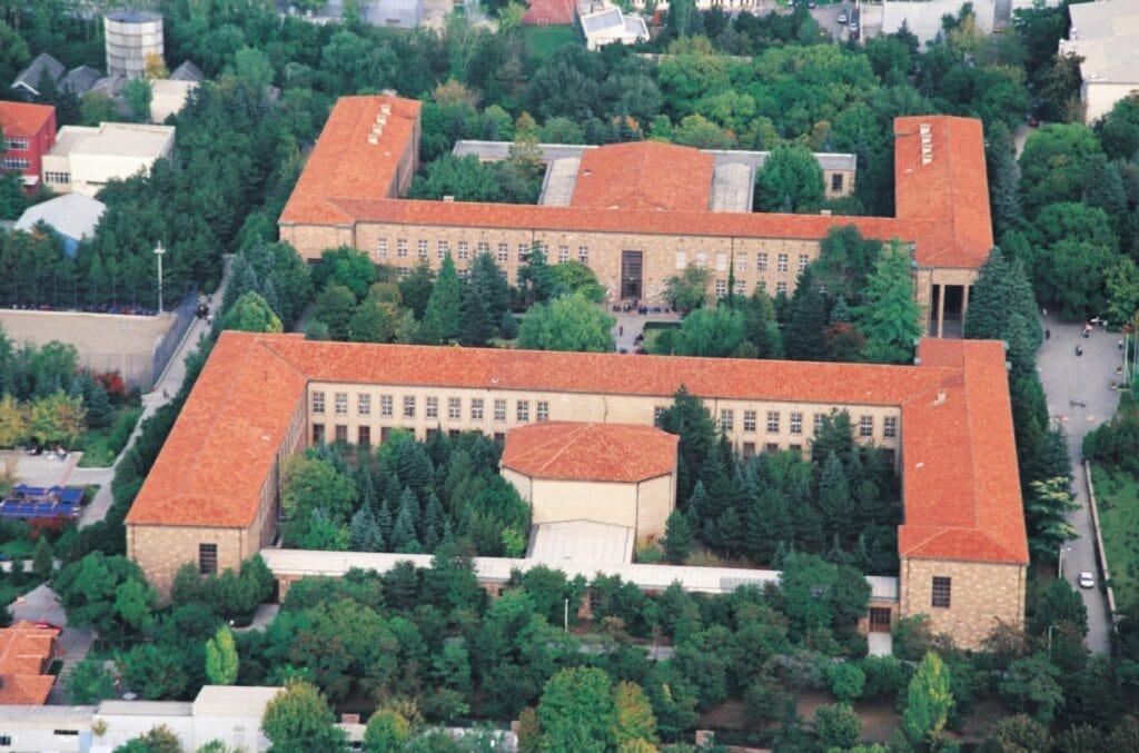 Вид сверху на Анкарский Университет